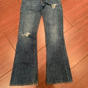 Rich & Skinny distressed flare leg jeans